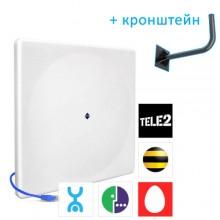 Универсальная антенна HiTE MIMO U-20 (Ethernet-подключение, все 4G операторы (МТС, Мегафон, Yota), усиление - 2x20 dBi)