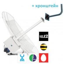 Универсальная антенна HiTE MIMO U-Grid (Ethernet-подключение, все 4G операторы (МТС, Мегафон, Yota), усиление - 2x24 dBi)