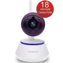 Домашняя WiFi IP камера наблюдения Zodiak 909 compact (поворотное устройство, звук, ночное видение, HD качество)