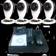 "Комплект видеонаблюдения ""Zodikam Combo Mini 4 WiFi"" (4 мини IP Wi-Fi камеры+регистратор)"