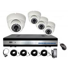 Комплект видеонаблюдения Zodiak Combo AHD4 Home (4 аналоговые камеры+регистратор)