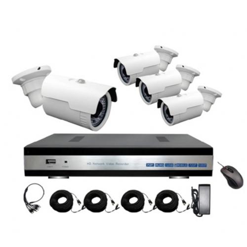 Комплект видеонаблюдения Zodiak Combo AHD4 Street (4 аналоговые уличные камеры+регистратор)