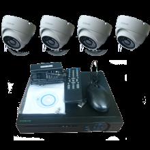 """Комплект видеонаблюдения """"Zodikam Combo Dome 4 POE"""" (4 IP камеры+регистратор)"""