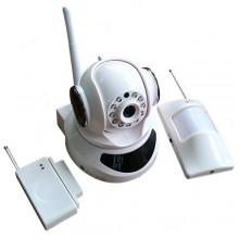 Zodiak 909 Home Safety (Поворотная IP камера + ИК датчик движения+ датчик открытия, P2P, Onvif, RTSP, звук, ИК, запись на карту, 1280 x 720 Пикс)