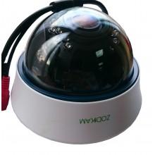 Купольная IP камера Zodikam 311 (2МП, POE, 1280x720, P2P, Onvif, IP66, ИК 20м, 2.8-12мм)
